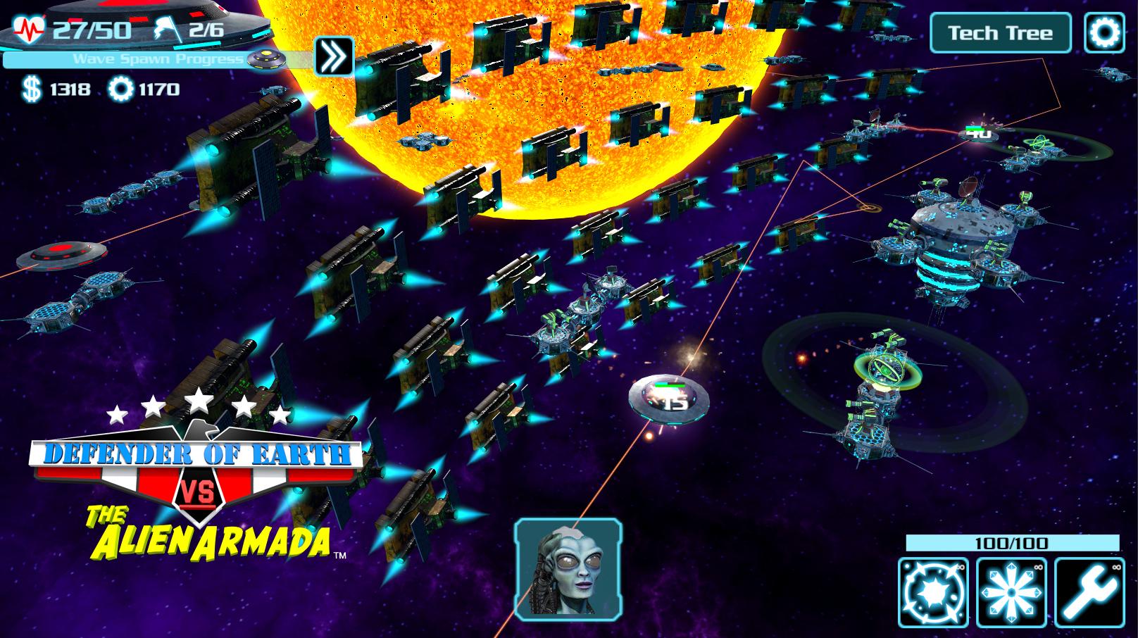 Defender of Earth vrs the Alien Armada