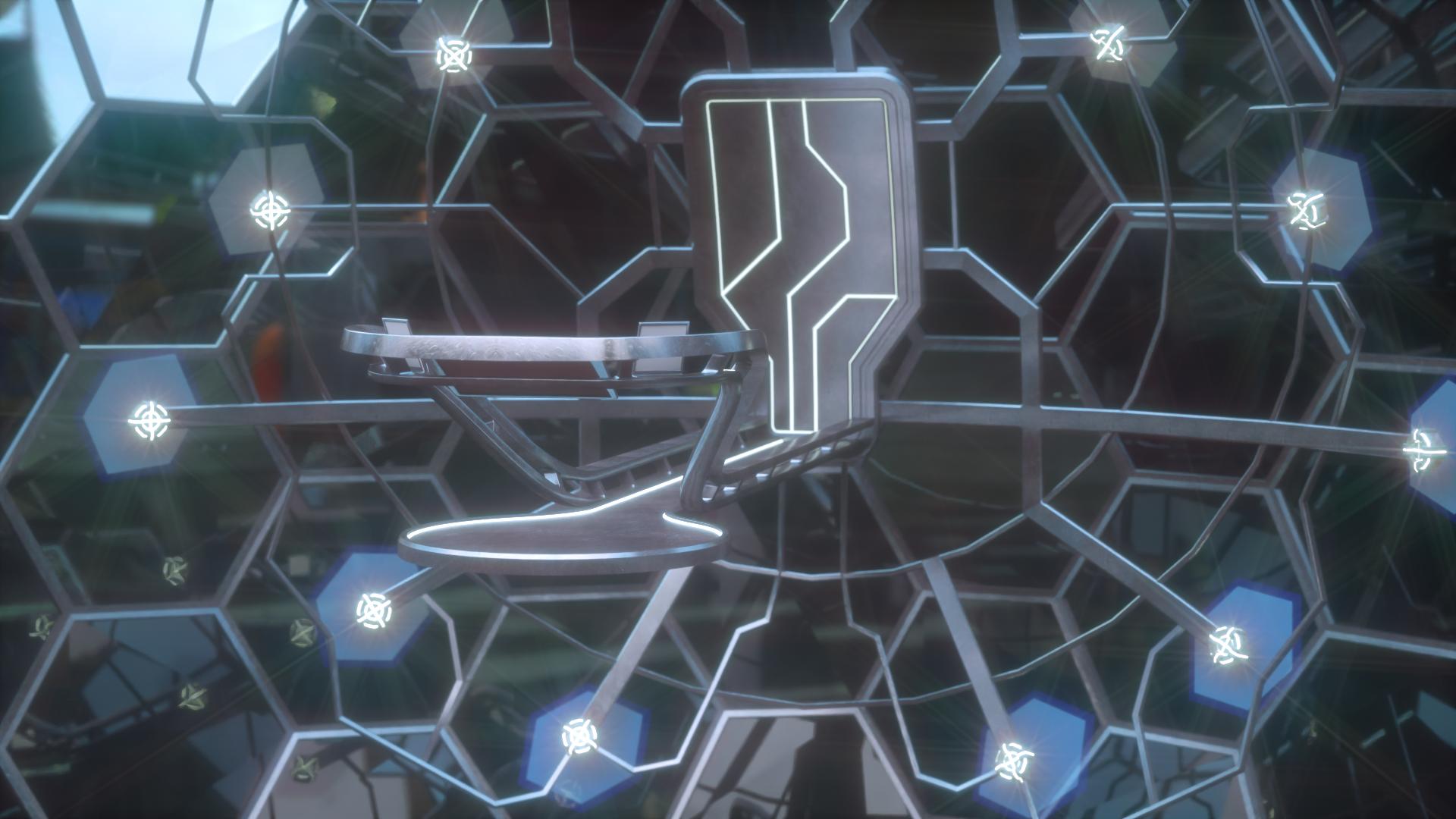 Camera animation for the platform model