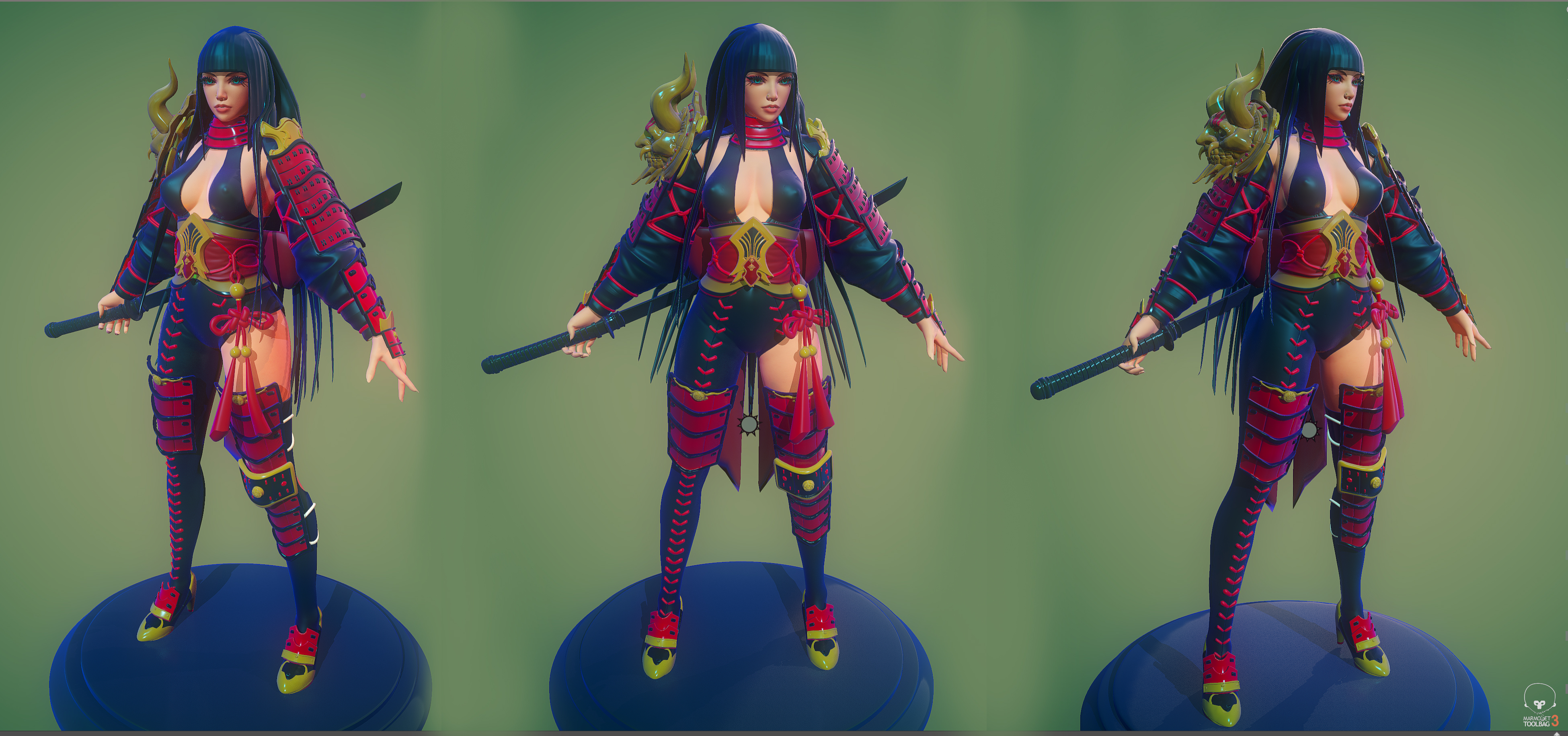 Character Art (WIP) Japanese Style Assassin