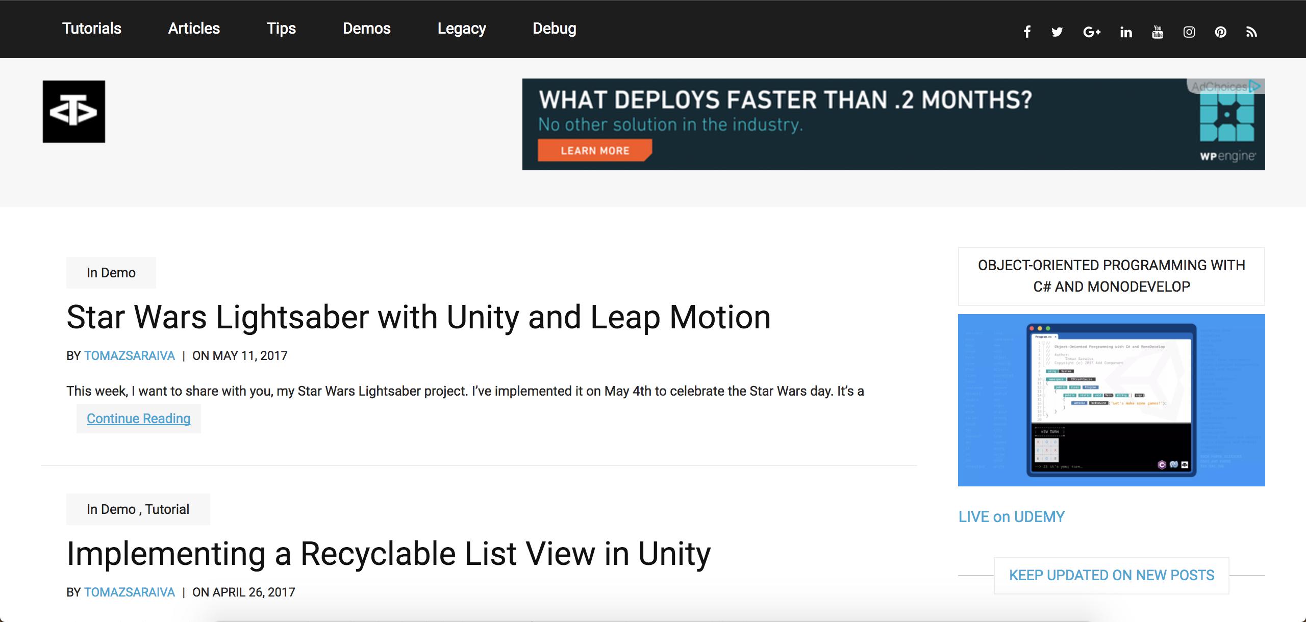 Unity 3d Blog