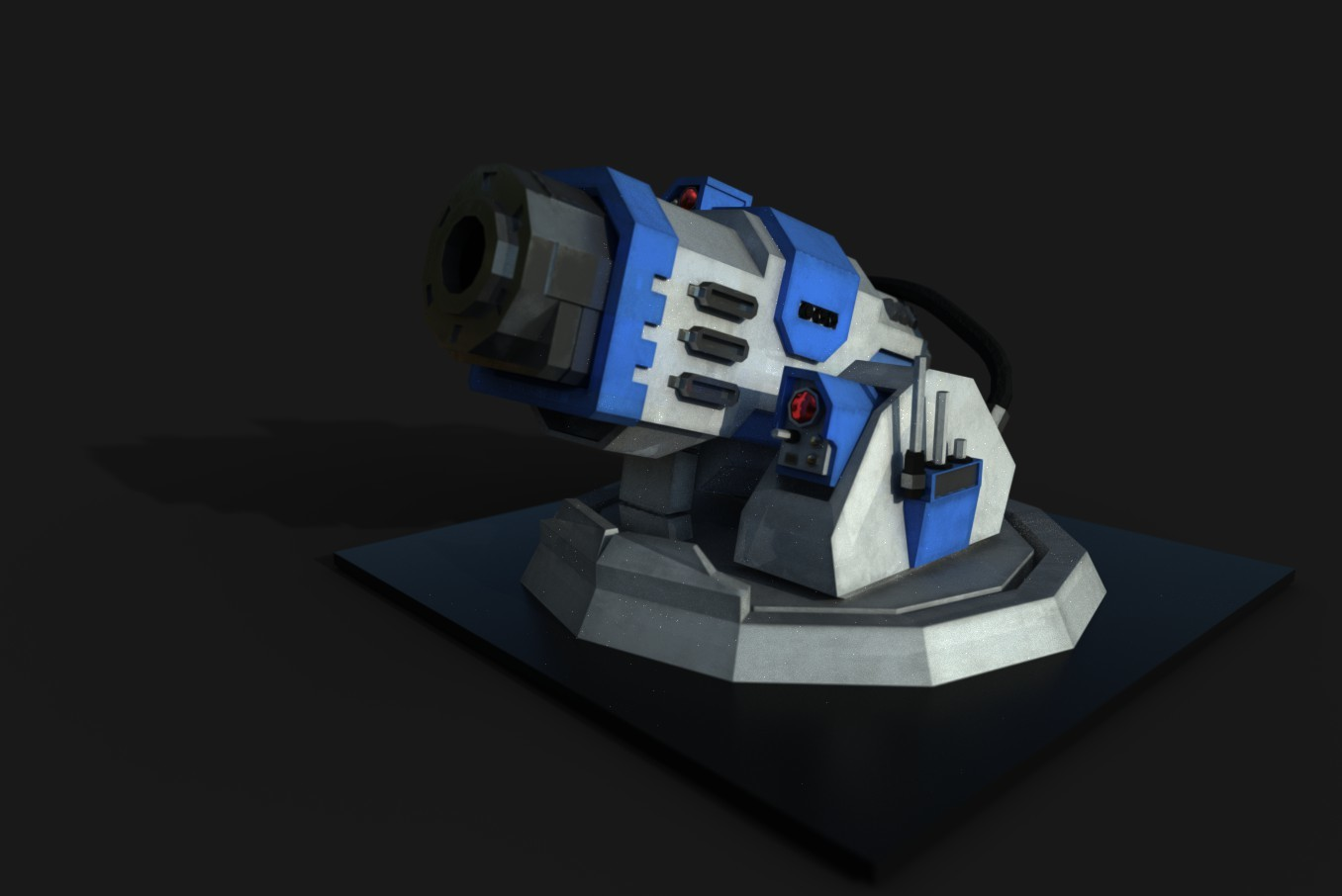 Warhammer low poly turret