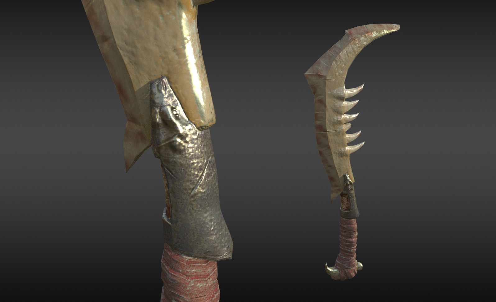 Tribal Weapon Game Asset