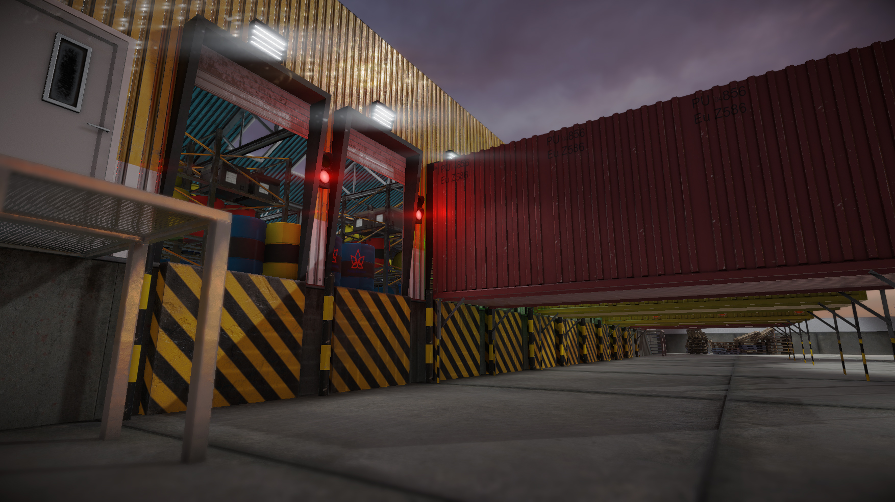 Modular Warehouse 3D project