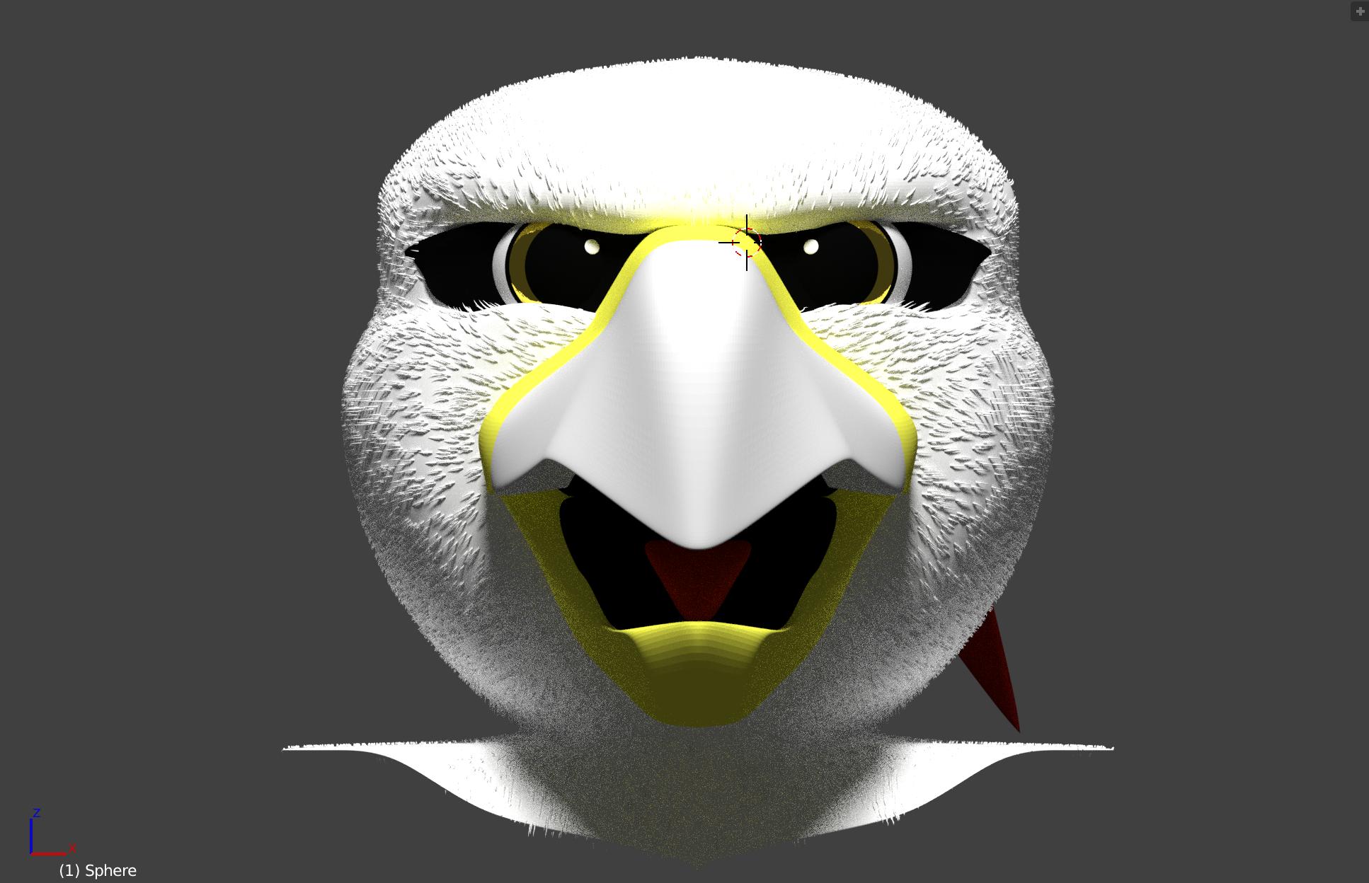 Hawkan Mascot Head