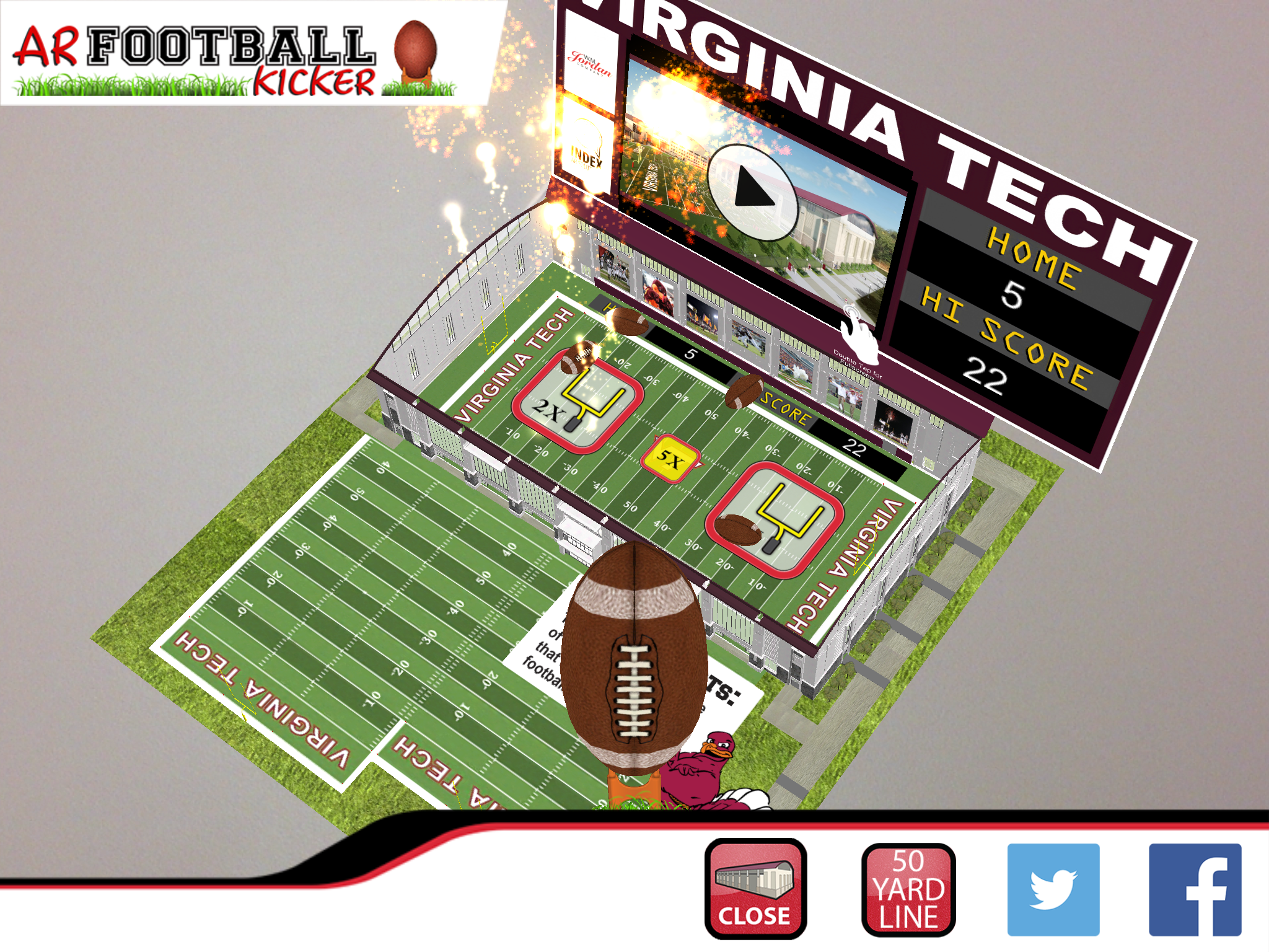 Virginia Tech Indoor Athletic Facility Augmented Reality