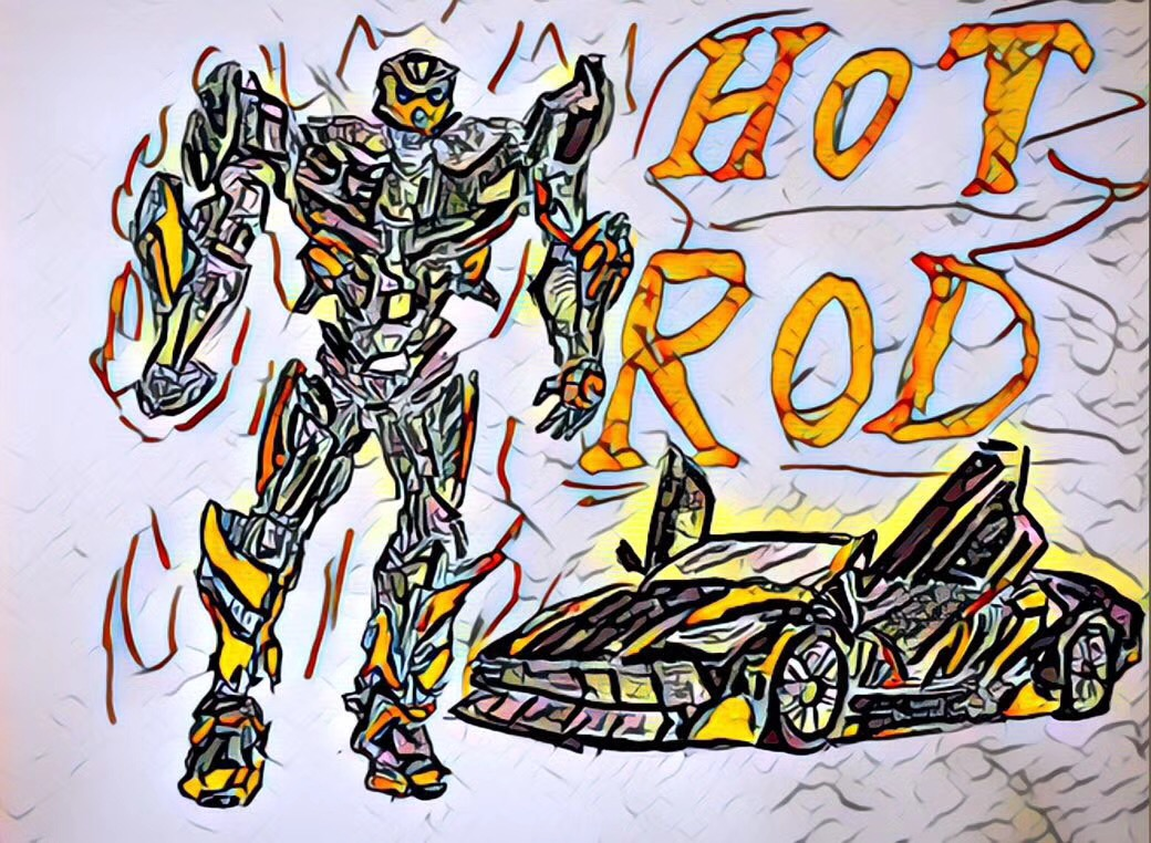 sketch transformers Hot Rod