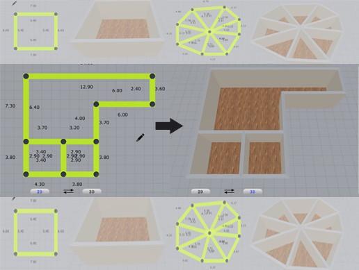 Line To Room(2D变3D户型)