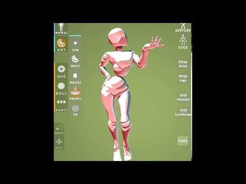 'Posetastic!' Art & Animation App