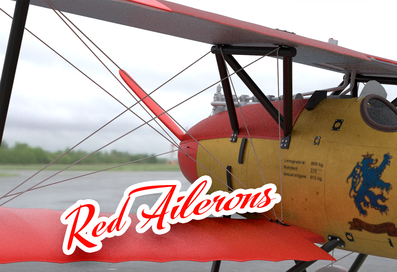 Red Ailerons (Textures & Shaders)