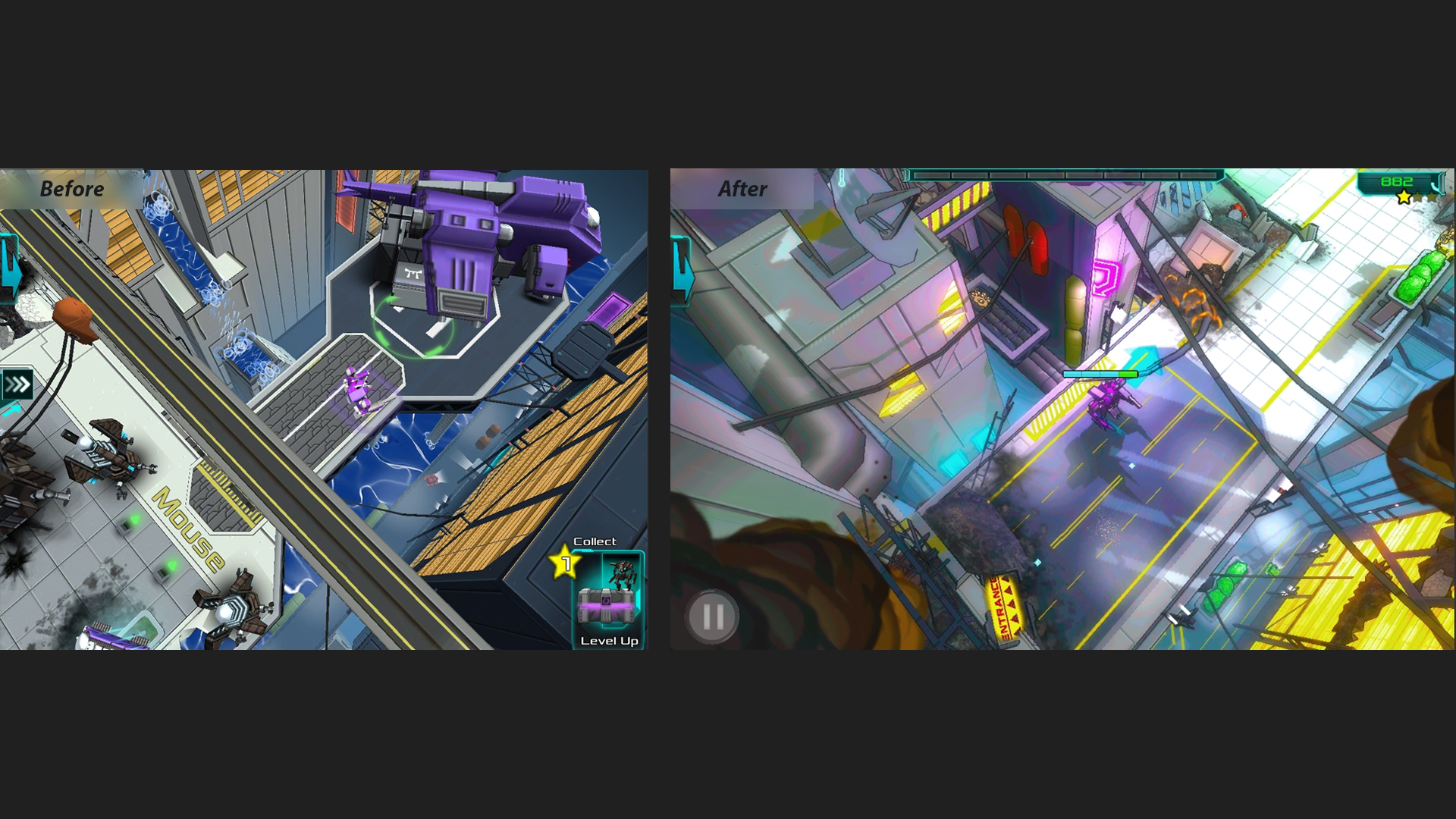 Cats in Mechs graphical upgrade and optimization