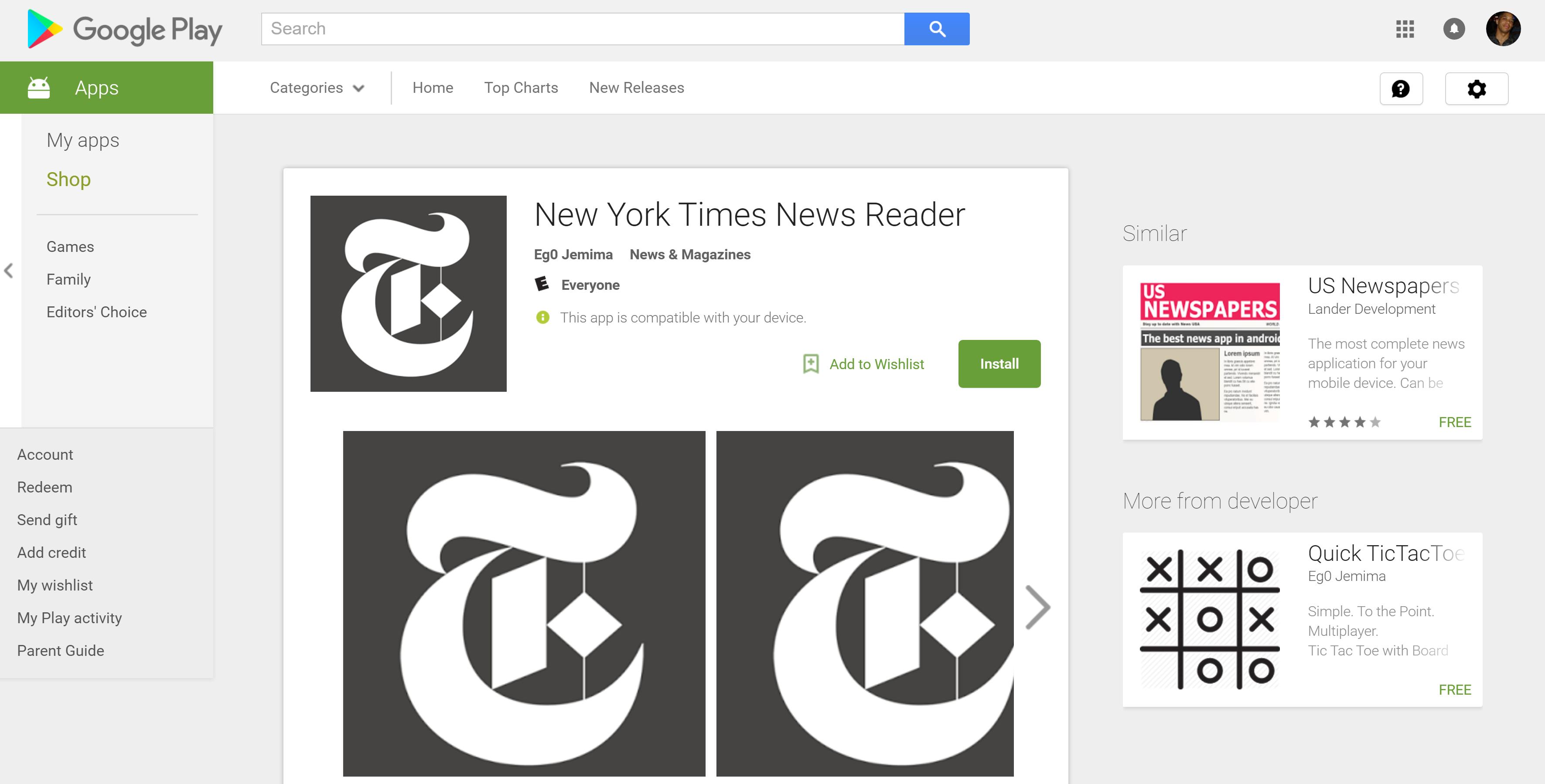 New York Times Reader