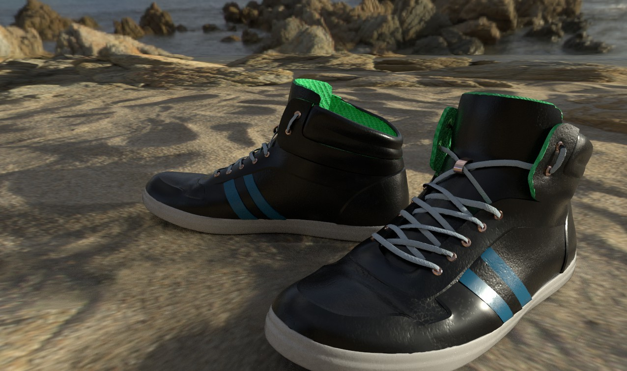 Leather Shoes Textured By Chazz Hegna