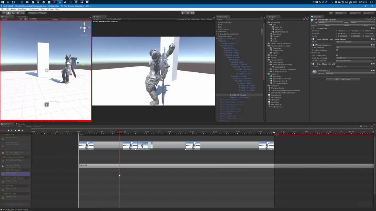 Cut Scene Sequencer Slate Essential
