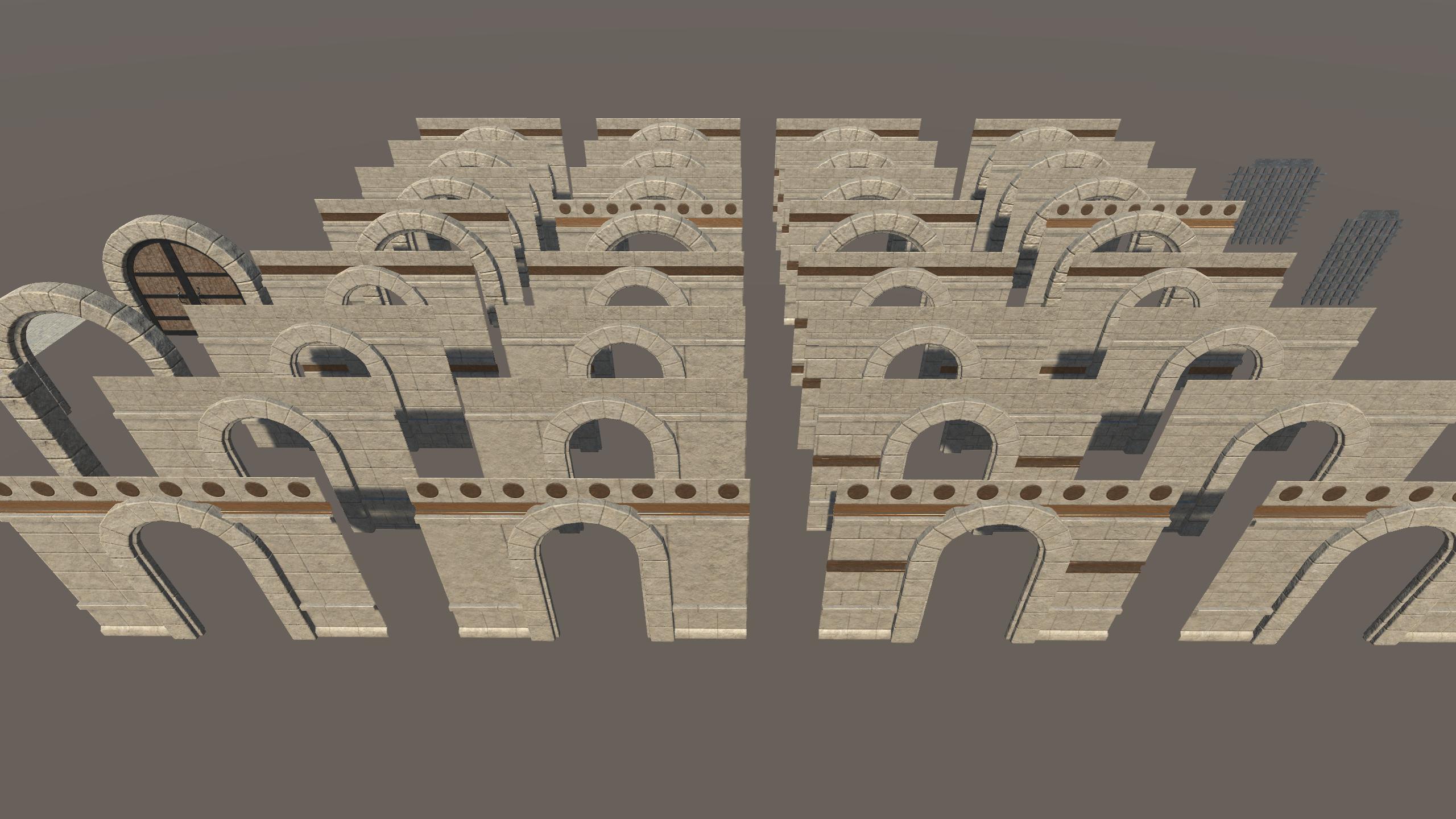 Infi-Dungeon v1.0, Walls