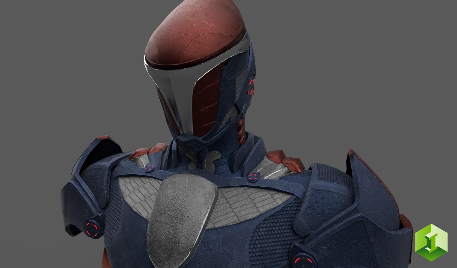 Sci-Fi Armor Bust - PBR