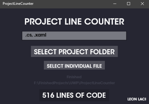 Project Line Counter