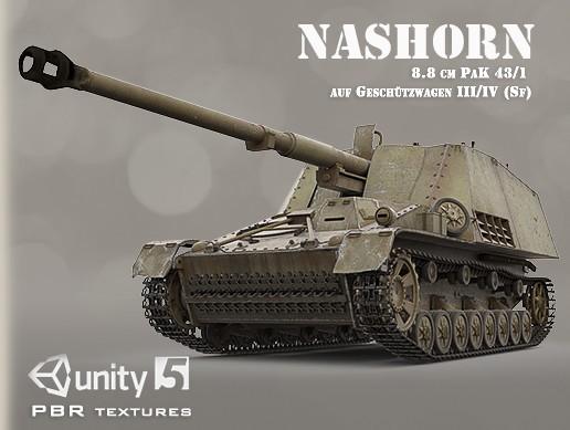 NASHORN ( 8.8 cm PaK 43/1 auf Geschützwagen III/IV (Sf))