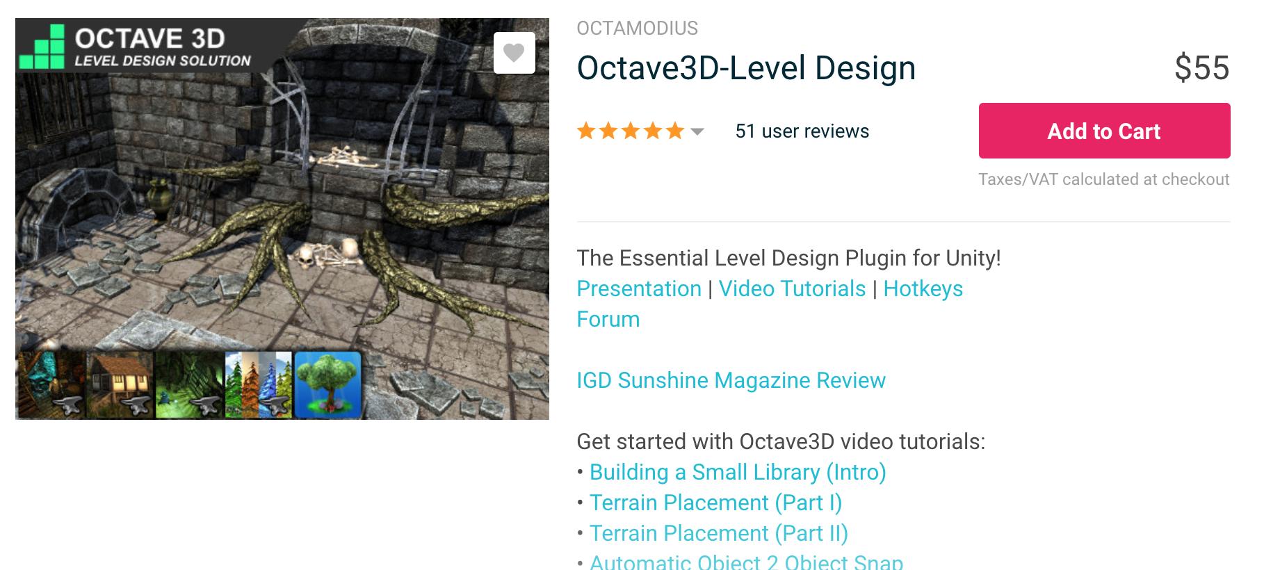 Octave3D (World Builder/Prefab Placer)介绍