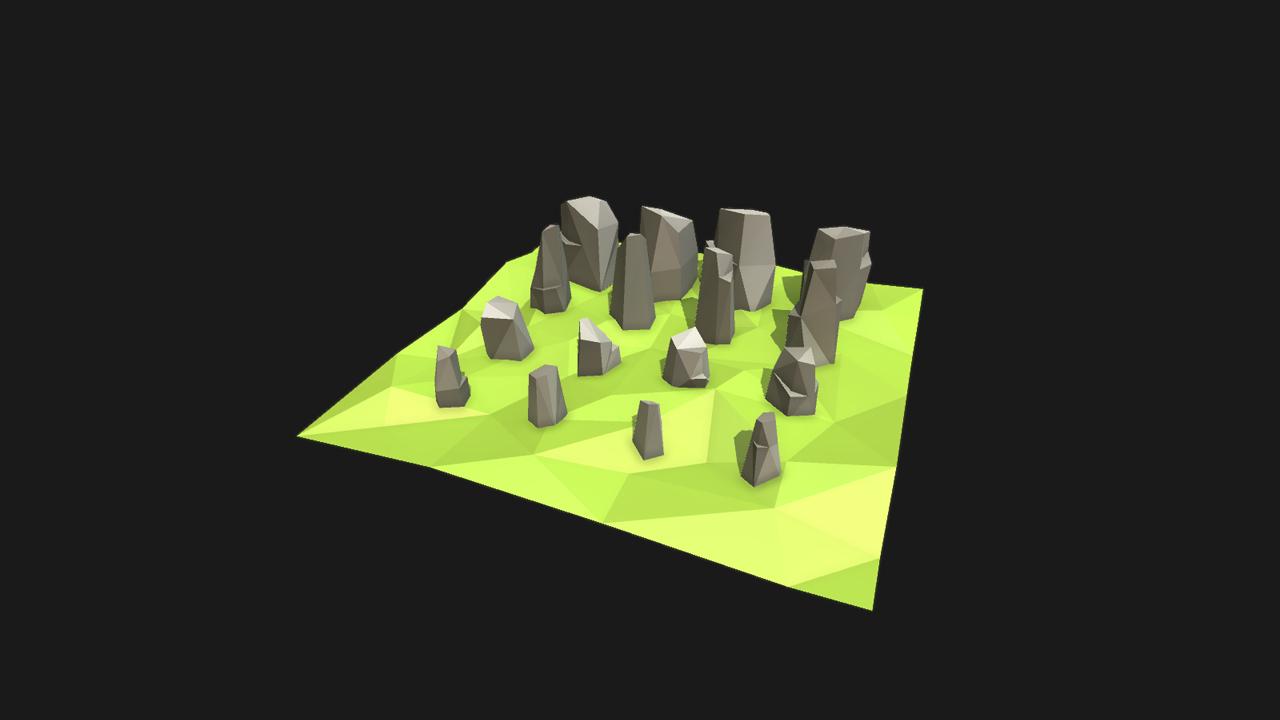 Low poly styled rocks