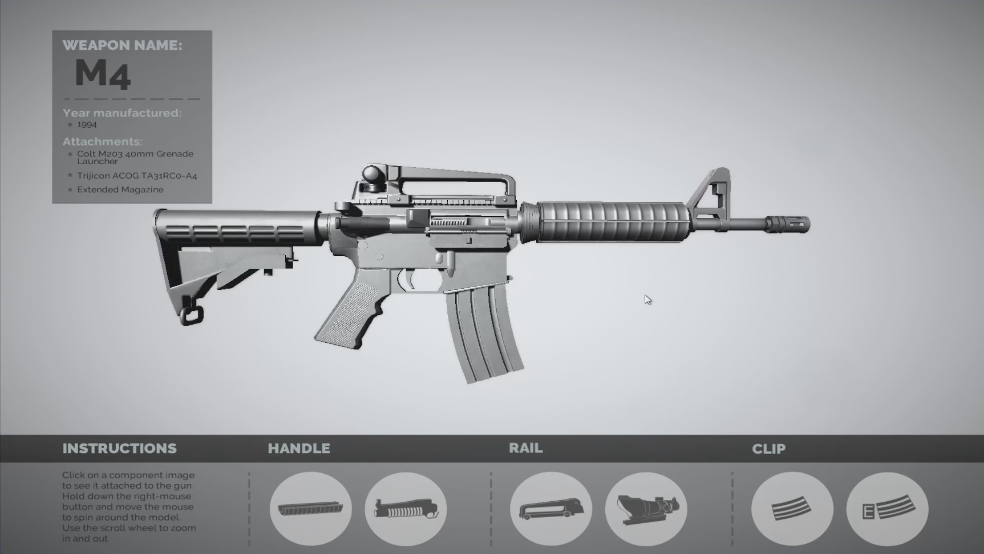 M4 Carbine - Unity Parts Placement