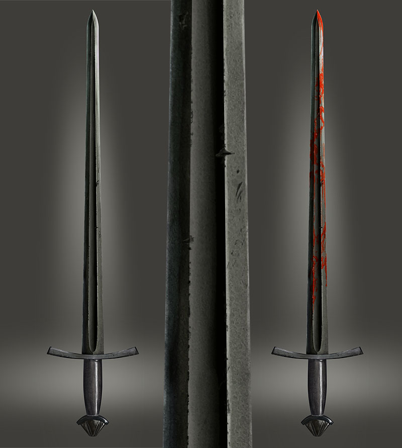 2D Sword asset - Cold Steal Norman
