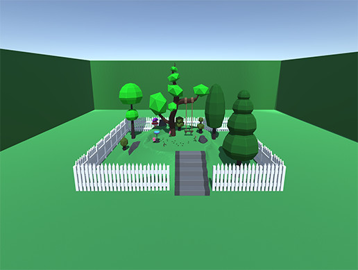Low Poly Tree Swing with Physics