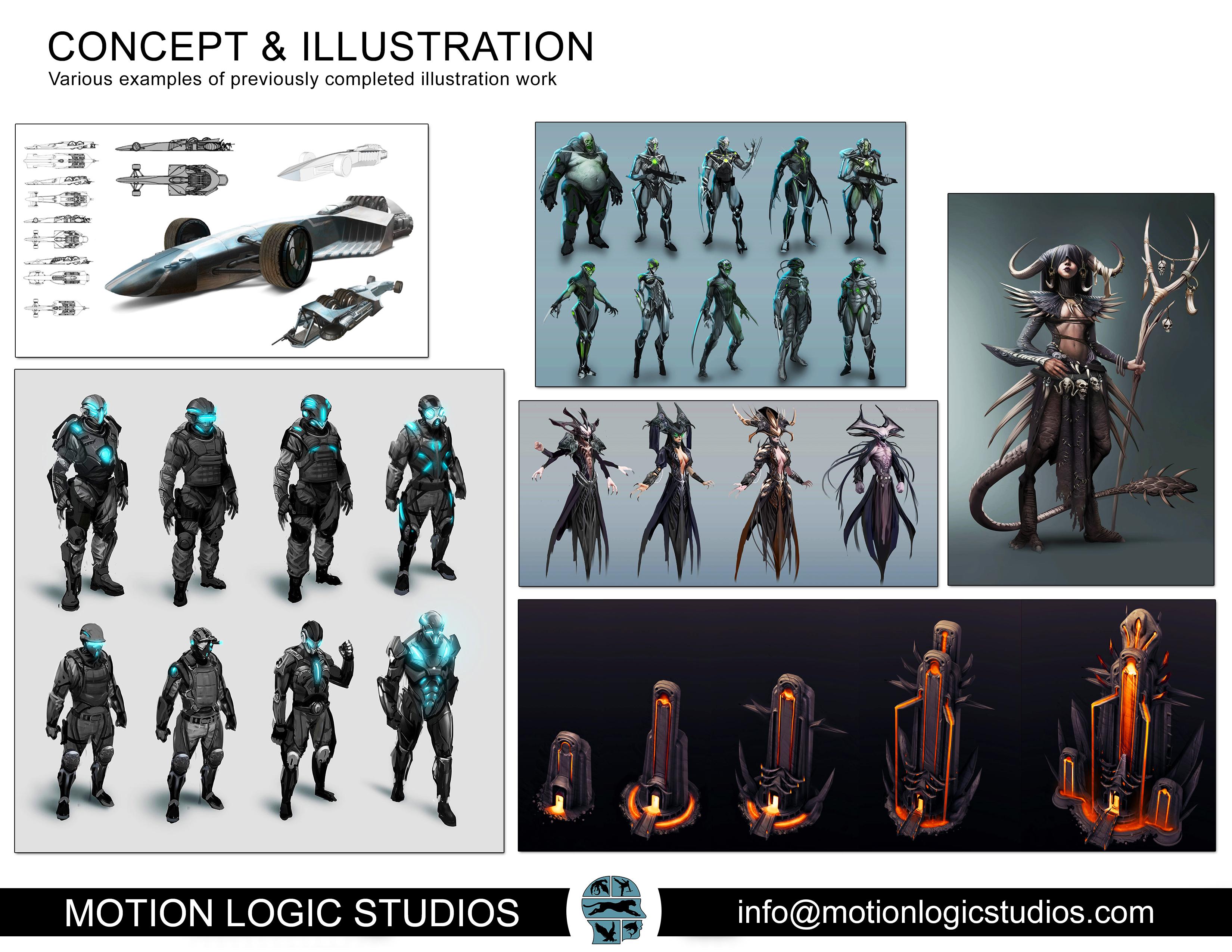 Illustration, Concept Art and Design