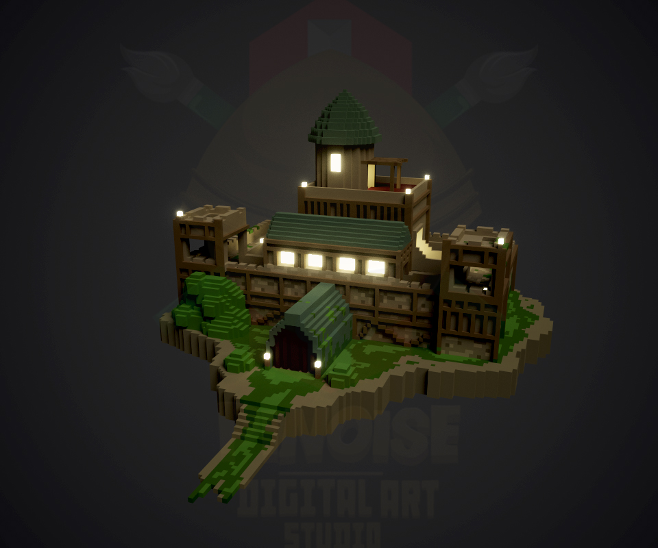 Medieval Castle - Voxel Art