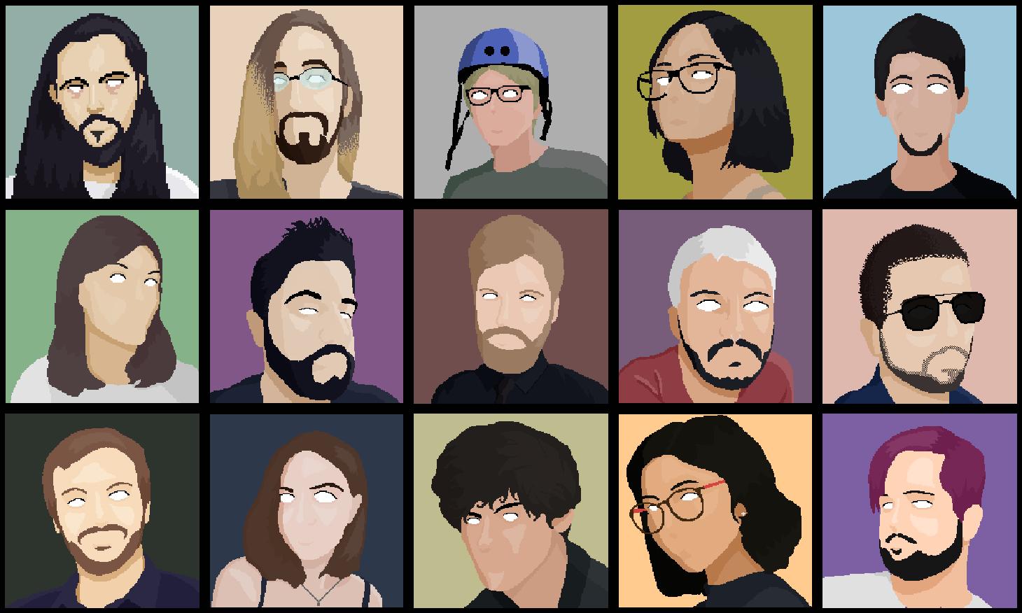 Minimalist pixel portraits