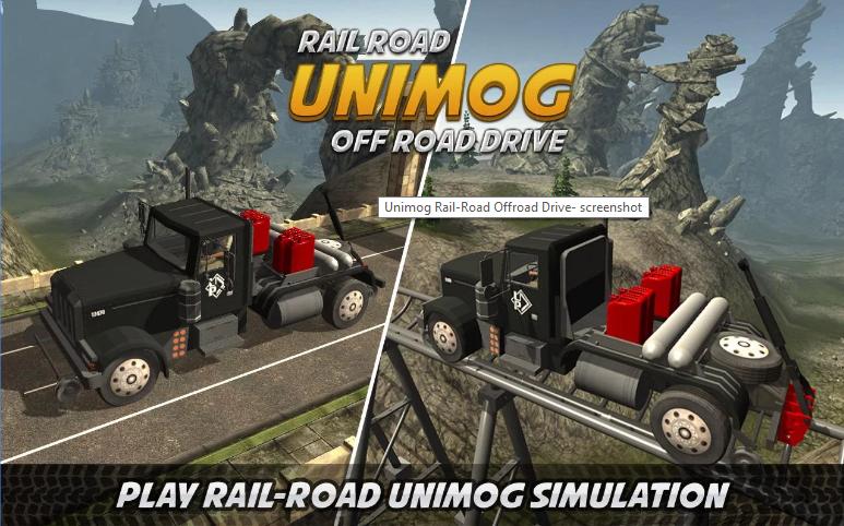 Unimog Rail-Road Off road Drive