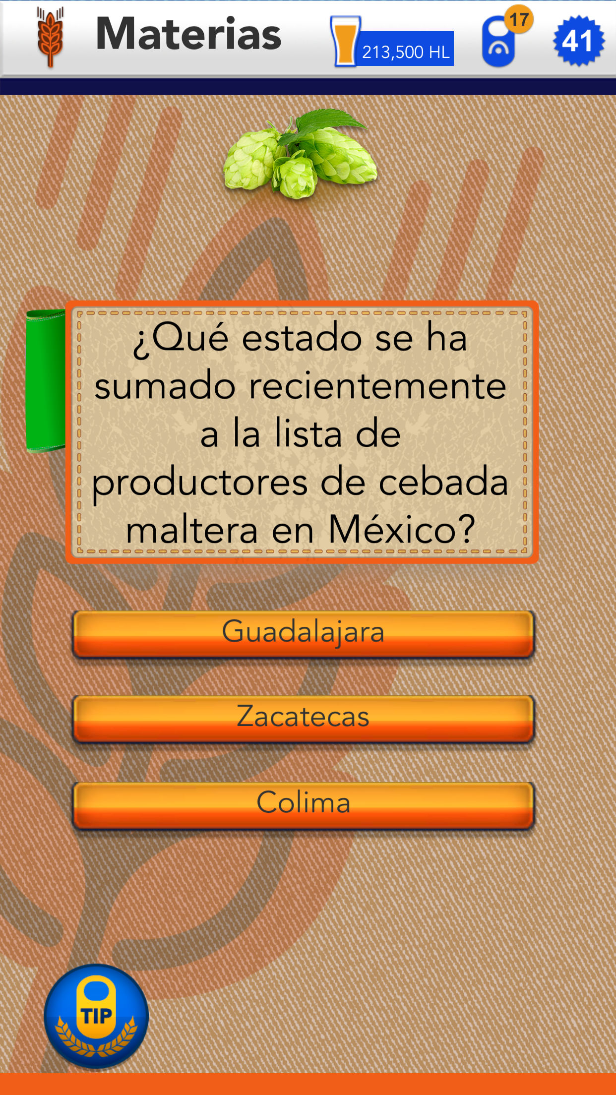 Quiz app about beer