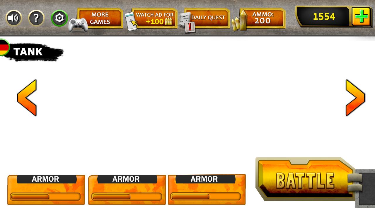 GAME UI (TANKS BATTLE)