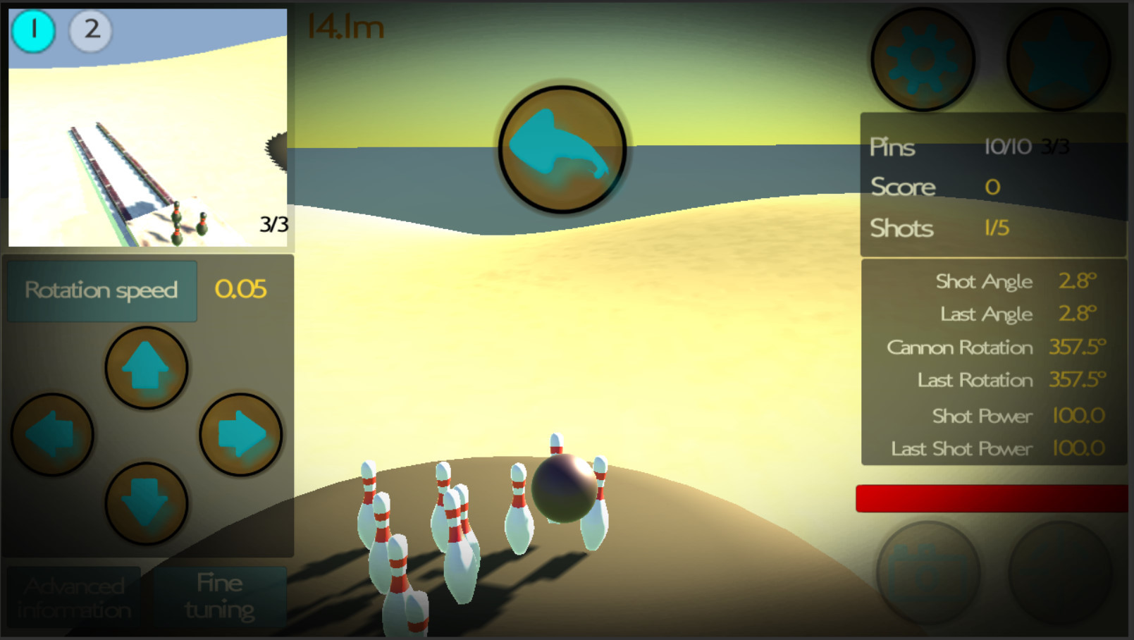 Cannon Bowling 3d