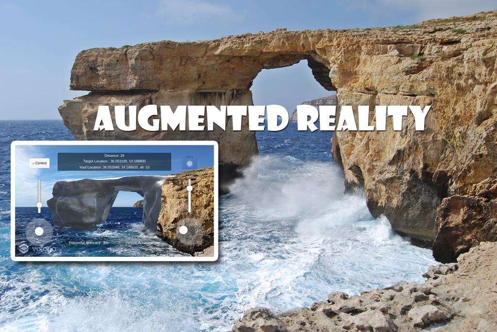 Augmented Reality Azure Window in Malta