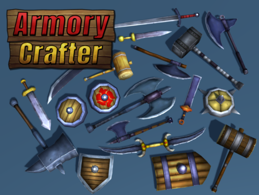 [ASSET] Armory Crafter - Customizable weapons and shields pack!