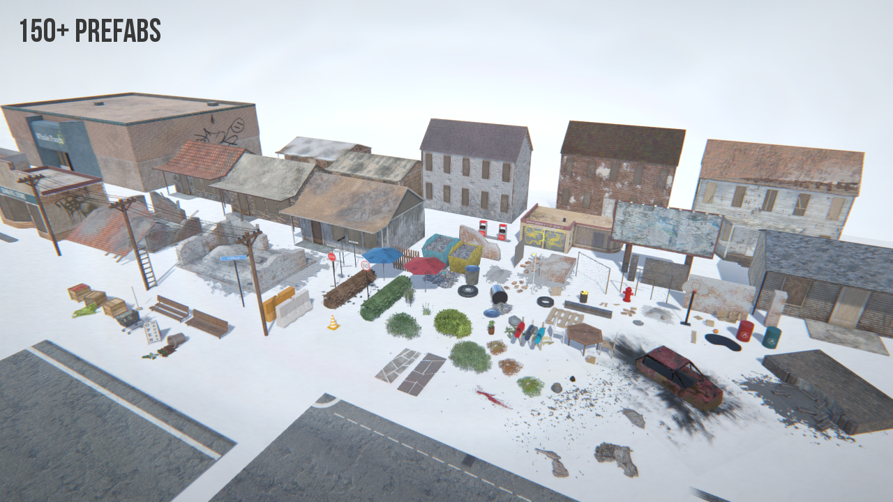 PBR Post-Apocalyptic Town Pack