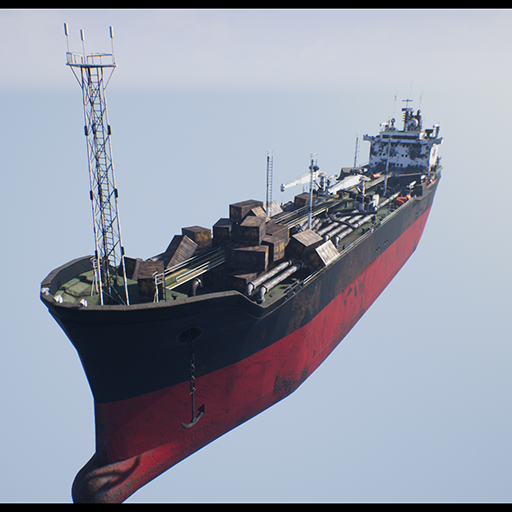 Post-apocalyptic oil tanker