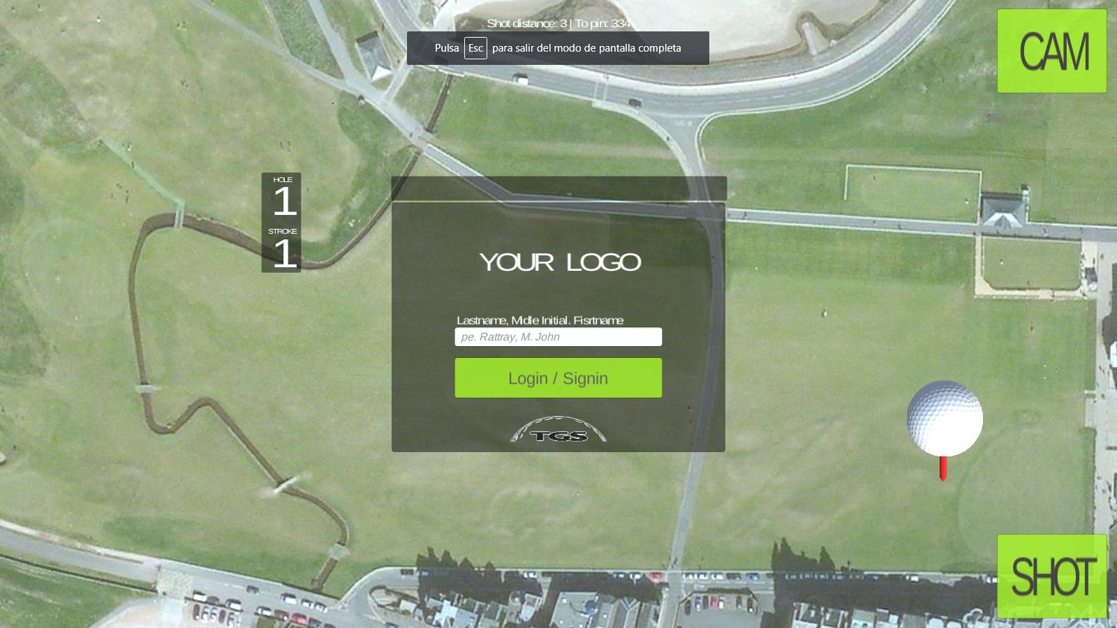 Tactical Golf Simulator