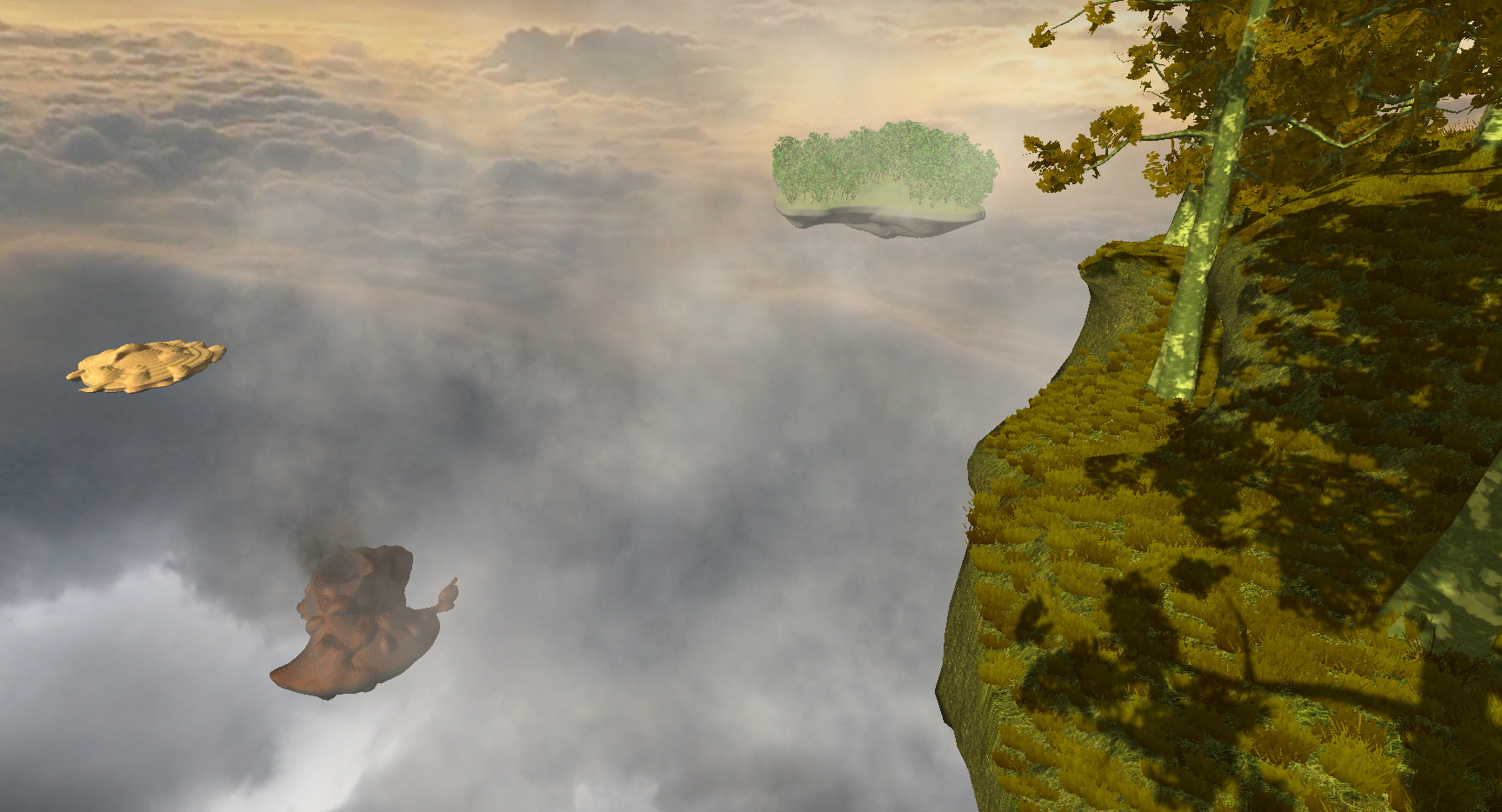 Voxelbased, procedural terrain generation ...