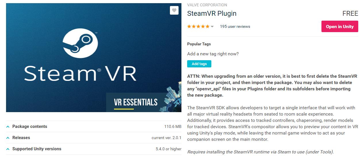 SteamVR 2 0 Starter/Migration & Action Sets - Unity Connect