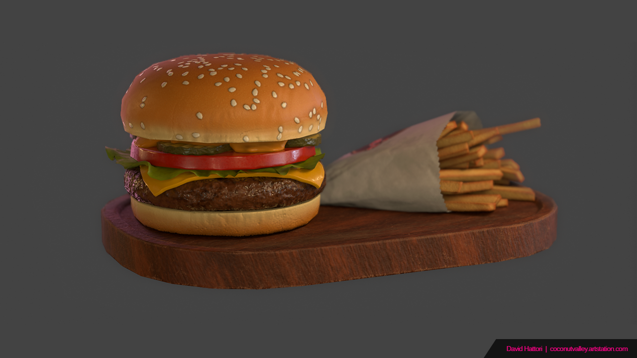 Cheeseburger and Fries Game Prop