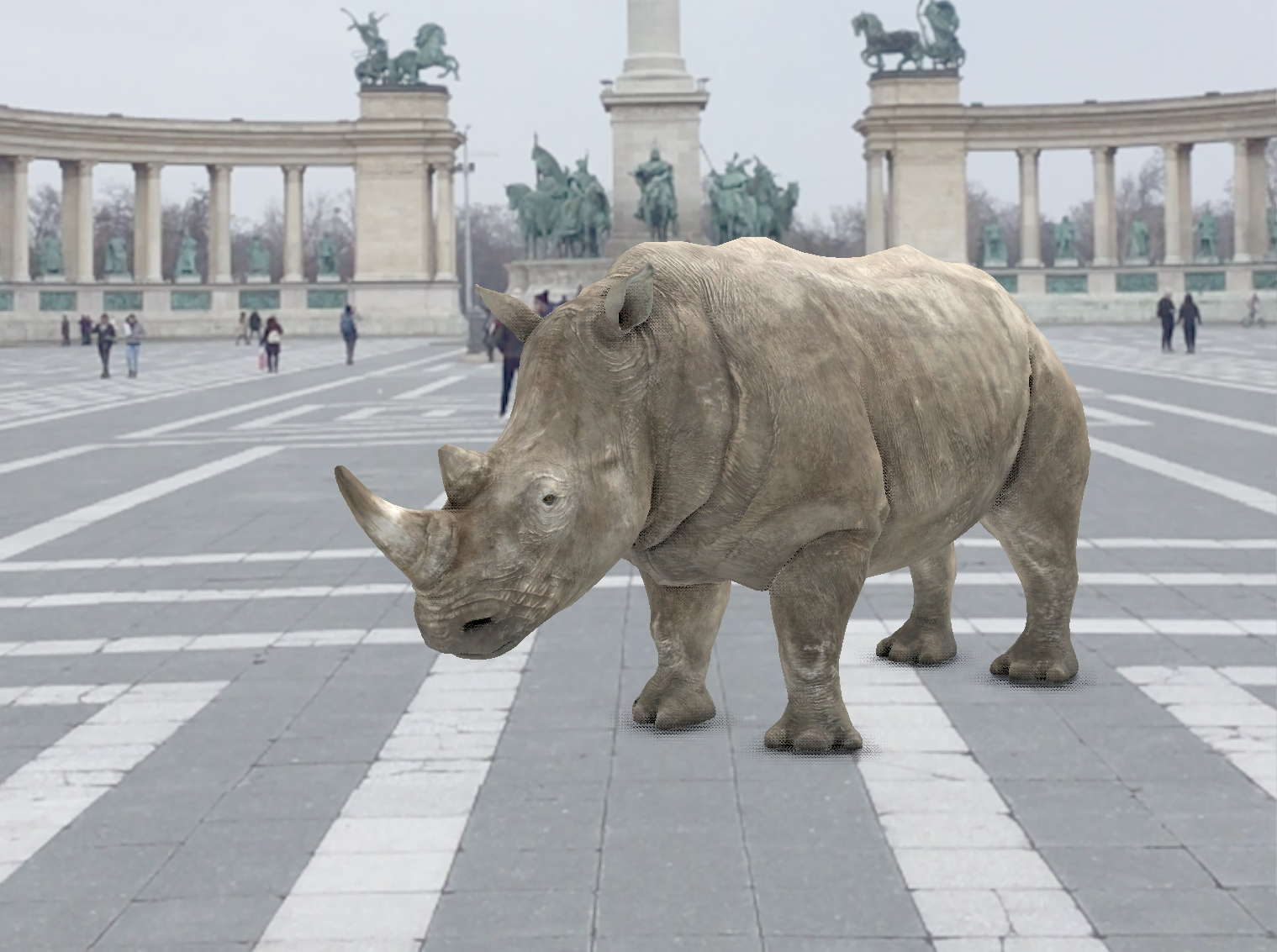 The last three Northern White Rhinos brought to life in Augmented Reality