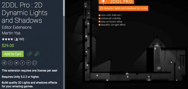 2DDL Pro : 2D Dynamic Lights and Shadows介绍