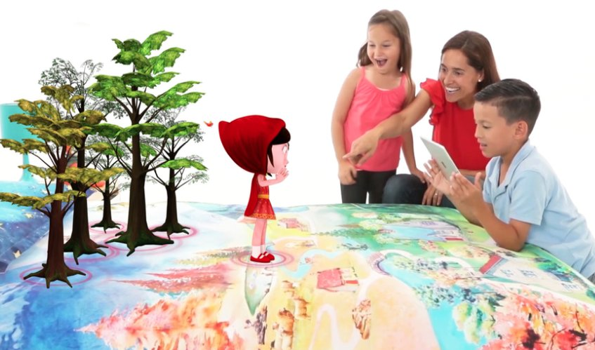 SpinTales - Engaging kids in immersive story telling using Augmented Reality