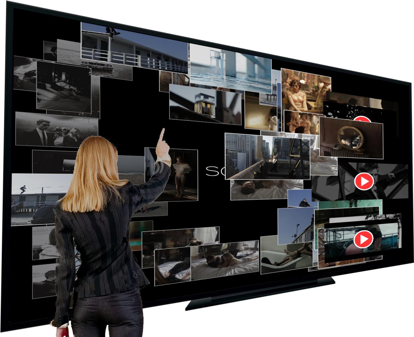 Interactive Wall and Kinect interaction