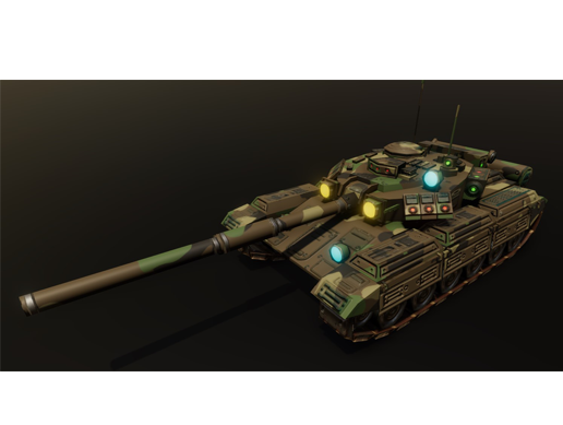 Low poly animated tank