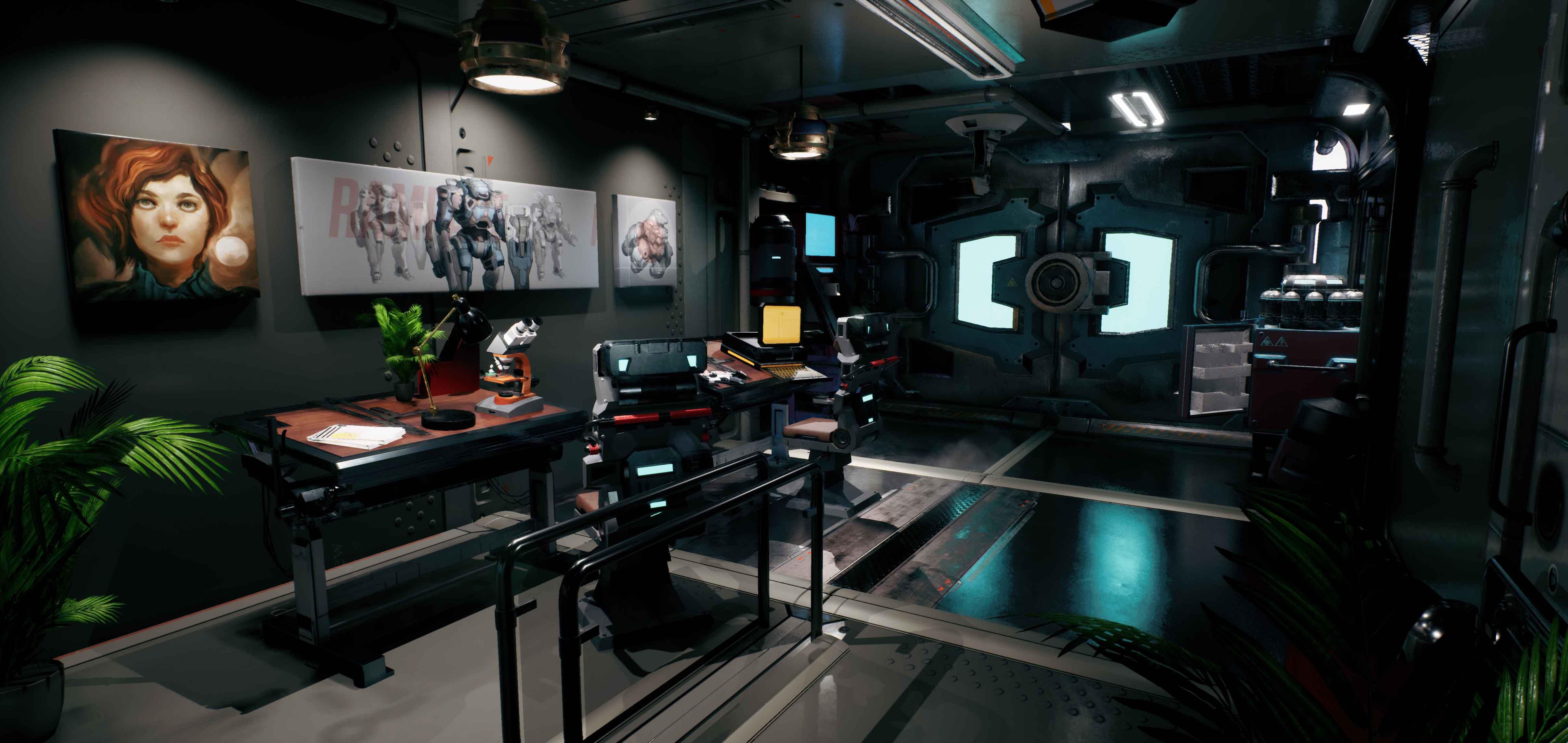3D - Scifi Office
