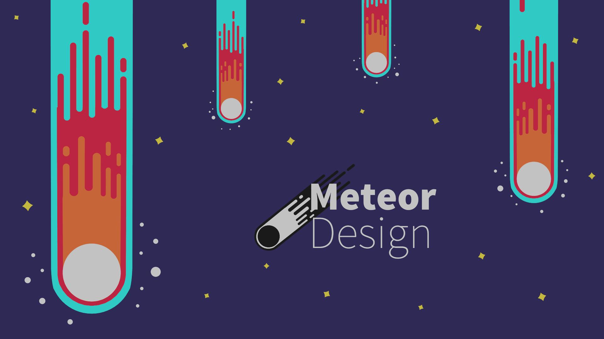 Meteor Vector Design