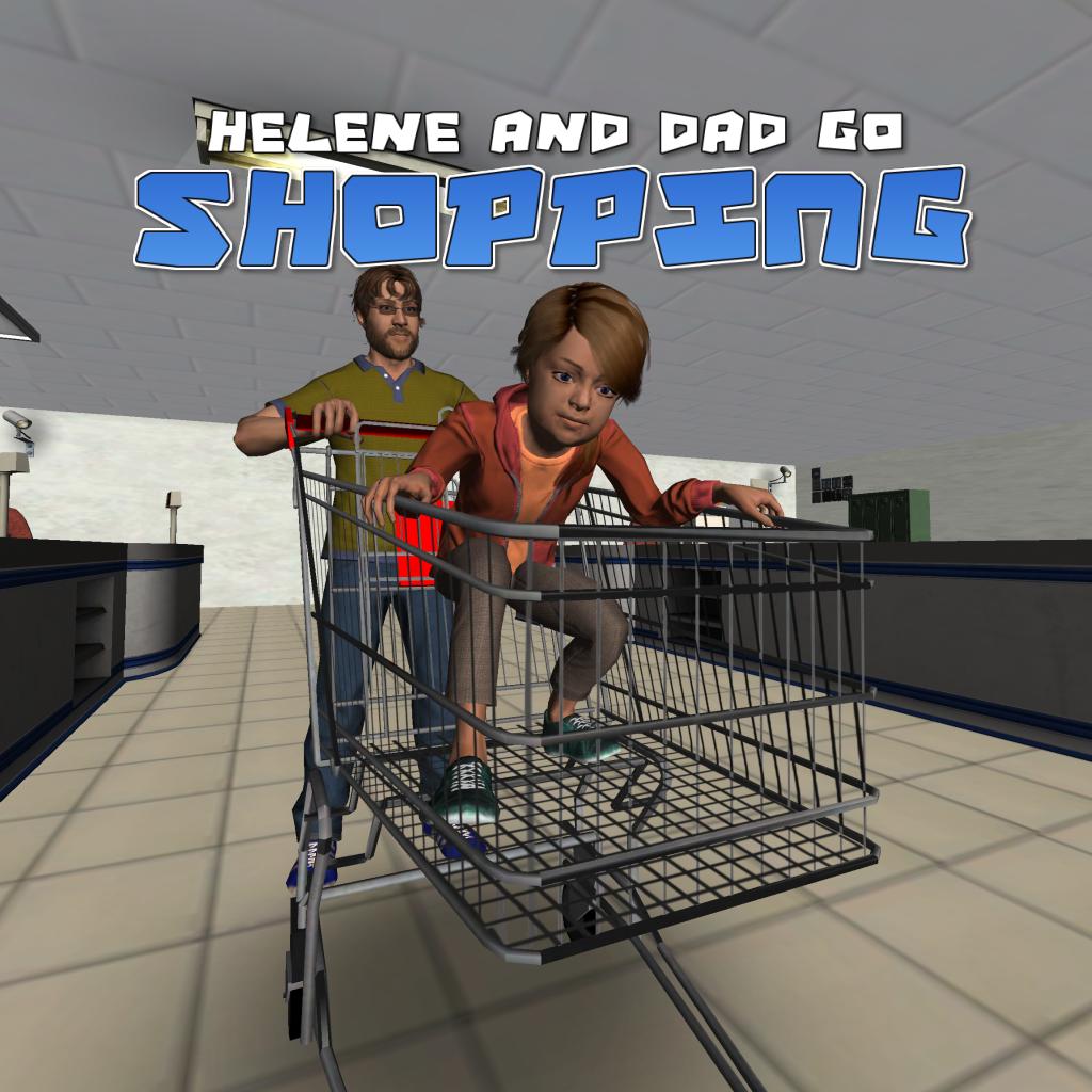 Helene and dad go shopping