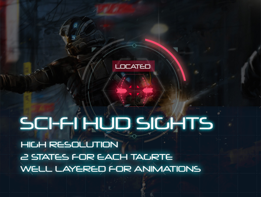 Sci-Fi HUD Elements for Games